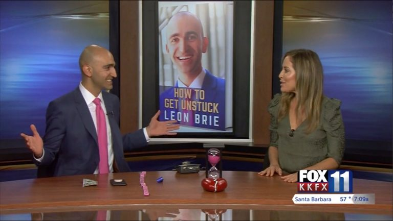 Leon Brie on FOX 11 Santa Barbara (How To Get Unstuck)