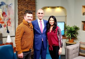 Leon Brie with Chad Brummett and Alexis Romero (New Mexico Living)