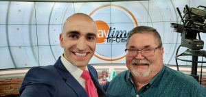 Leon Brie with Chris McIntosh host of Daytime Tri-Cities on ABC TV